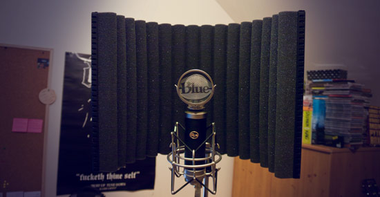 Blue microphone soundbooth reflection